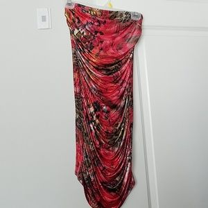 Multi color/ red animal print party dress